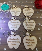 Personalised, Teacher / Teaching Assistant, Apple Keyring,  End of Term / Year