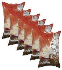 Bolsius 103630519700 8-Hour Burning Tealights - White, Pack of 50