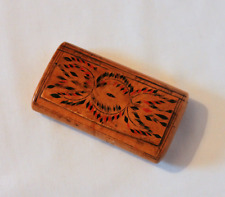 19th.century Painted Burr Wood Snuff Box No.2
