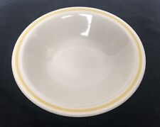 Design Four Stoneware Everglade Bowl Japan Yellow Rim Vintage