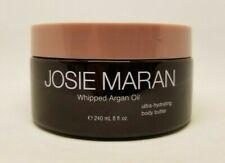 JOSIE MARAN WHIPPED ARGAN OIL HYDRATING BODY BUTTER VANILLA WAFER 8 OZ UNSEALED!