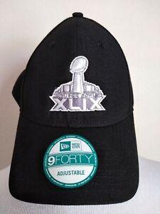 NFL Super Bowl XLIX 49 New Era Hat Cap Black Adult Adjustable Arizona NEW