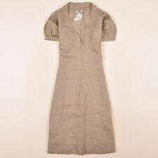 Noa Noa Damen Kleid Dress A-Linien-Kleid Gr.S (DE 36) 100% Leinen Beige 85119