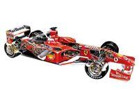 Vintage Ferrari F2004 Cutaway Drawing Wall Poster Brochure Art (A3)