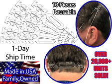 Earstrap Face Mask Extension 10 Pack Transparent PETG earstraps PPE Ear Savers