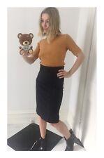 Women's Designer Scanlan & Theodore High Waisted Black Pencil Skirt Size 10 AUS