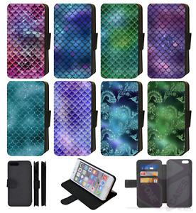 MERMAID SCALES Galaxy FISH Wallet Flip Phone Case S7,S8,S9 S10 PLUS Compatible