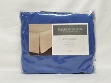 CHARTER CLUB - Damask Solid 500T Denim Blue Full Bedskirt