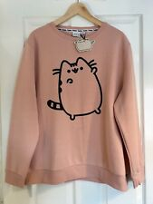 Ladies Dusty Pink Pusheen Jumper Size Large 14/16 - Primark *NEW*