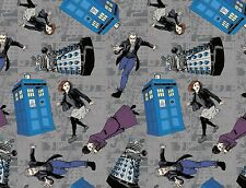 FAT QUARTER  DOCTOR WHO CHARACTER 100% COTTON FABRIC POLICE SPRINGS CREATIVE  FQ