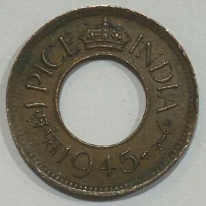 1945 British India Half Pice Coin