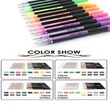 Pen Set Pastel Gel Pens Glitter Neon 48 Gel Metallic For Adult Colouring Pencil