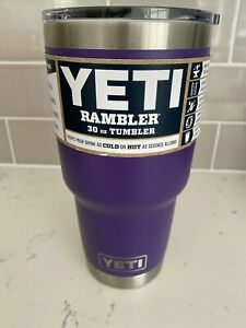 New! Peak Purple Yeti 30oz Rambler Cup With Magslider Lid (Discontinued Color)
