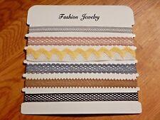6 MUTED LACE CHOKER SET Victorian mix layer ribbon band necklace boho crochet Z2