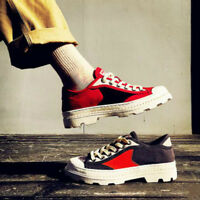 Mens Lace Up Assorted Colors Comfort Canvas Round Toe Fashion Skate Shoes B566