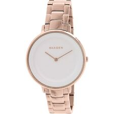 Skagen SKW 2331 Ditte Rose Gold Watch White Face New w/ Warranty, Box RRP $295