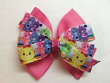 "Cute! 4 1/2"" Pink Care Bears Baby Girl Boutique Hair Bow."