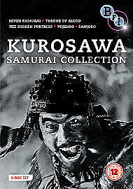 Akira Kurosawa - The Samurai Collection (DVD, 2010, 5-Disc Set, Box Set) SEALED