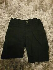 Marks and spencer Boys Black Shorts School. 3-4 Years.