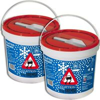 2 x 10 kg Glatteisbremse alternatives Streusalz Kalksteingranulat schnelltauend