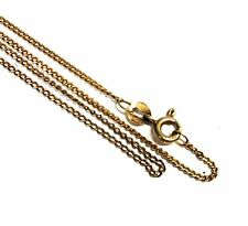 ".375 9ct YELLOW GOLD Flat Curb Chain Necklace, Length - 20.7"" 2.30g - E13"