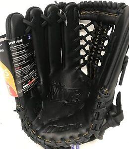 "New Mizuno MVP Prime Baseball Glove GMVP1275P2 12.75"" LHT Black LEFT HAND THROW"