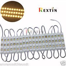 20Pcs X 3 LED Warm White 5630 SMD Injection Waterproof Module lens High Glow