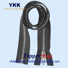 """(12) 20"""" #5 Aluminum Zipper ~ Separating ~ Black ~ YKK"""
