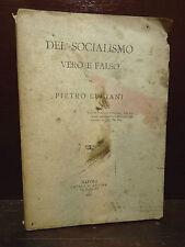 PIETRO LUCIANI : DEL SOCIALISMO VERO e FALSO - NAPOLI REGINA 1896  SALERNO