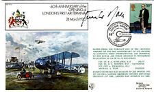 60th Anniv opening of London's 1st Air Terminal Croydon Airport Signed G Rall