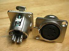25, XLR 5-Pin Lock Chassis Female Jack DMX Intercom,X5F
