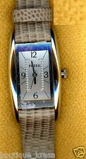 NWT Fossil Women's Watch ES2814 Taupe Embossed Leather Strap Swiss Parts Authen