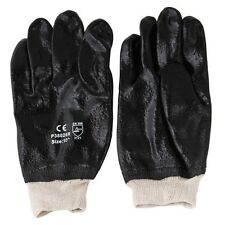 """120 Pairs PVC 10"""" Chemical Liquid Water Resistance Knit Wrist Work Gloves Large"""