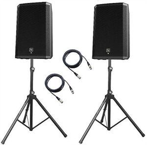 """2 x Electrovoice ZLX12P 2 Way 1000W 12"""" Powered Speaker DJ Disco PA Sound System"""