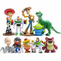 New Toy Story 4 Figure Toys Character Woody Buzz Alien Rex Kids Gift 10Pcs Set