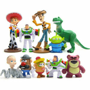 New Toy Story 4 Figure Toys Character Woody Buzz Alien Rex Kids Gift 10Pcs Set