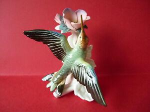porcelaine de saxe KARL ENS colibri 14,5 cm en excellant état