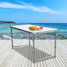 Klapptisch Partytisch MDF Alu Campingtisch 120x60cm Balkon Rolltisch Table Weiß