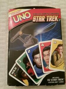 STAR TREK COLLECTOR'S EDITION UNO CARD GAME IN TIN 2008 FUNDEX 112 TREK CARDS