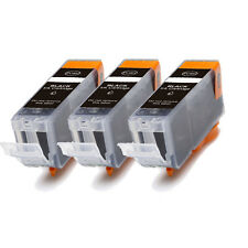 3 PK BLACK Ink w/ CHIP for PGI 225 BK Canon Pixma MG8120 MG8220 MX882 MX892