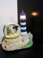 Rare Battery Light Up Tower Shamu Dolphin Seagull Seaworld Snow Globe