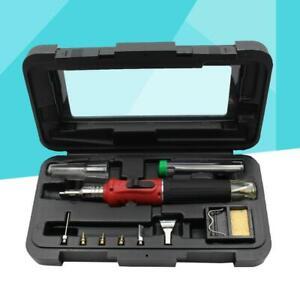 HS-1115K 10 IN 1 Butane Gas Soldering Iron Kit Welding Kit Torch Pen Tool US
