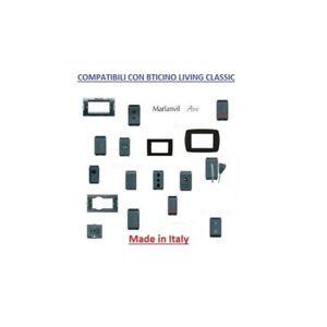 Compatibile Bticino Living Classic Deviatore interruttore pulsante rj45 tv presa
