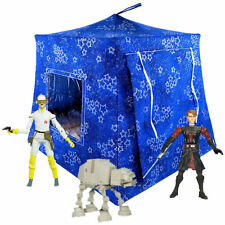 Royal blue, sparkling star Toy Pop Up Fabric Tent, 2 Sleeping Bags, handmade