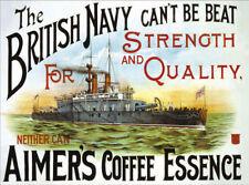 Aimer's Caffè Vecchio inglese blu navy Navicella DA CUCINA BAR PUB CAFE