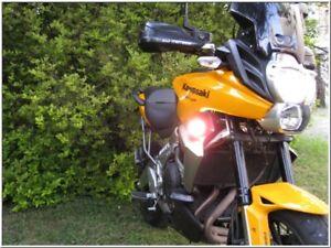 Micro Hella Super White Driving Light Kit for Kawasaki Versys ( all years )