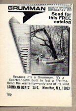 1975 Print Ad Grumman Sportcanoe Boats Made in Marathon,NY