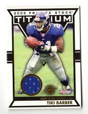 TIKI BARBER NFL 2002 TITANIUM POST SEASON JERSEY   (NEW YORK GIANTS) #/435