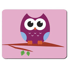 OWL TREE PC Computer Mousemat Mouse Mat Pad Gift Animal Pink Purple Cool Bird