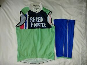 Men's Panache Cycling Vest & Arm Warmer Size S